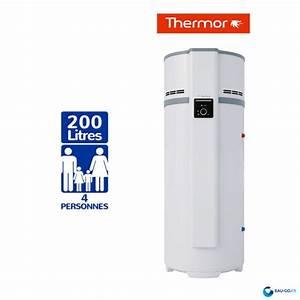 Dimension Chauffe Eau Thermodynamique : chauffe eau thermodynamique thermor 200l airlis ~ Edinachiropracticcenter.com Idées de Décoration