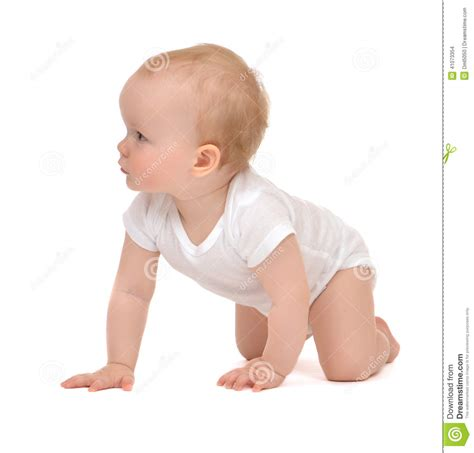Infant Child Baby Toddler Sitting Crawling Backwards Happy