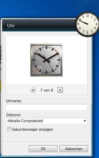 eine desktop uhr  windows anzeigen tipps tricks