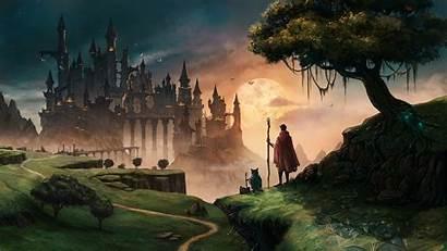Wizard Journey Mage Wandering Wallpapers Fantasy Deviantart