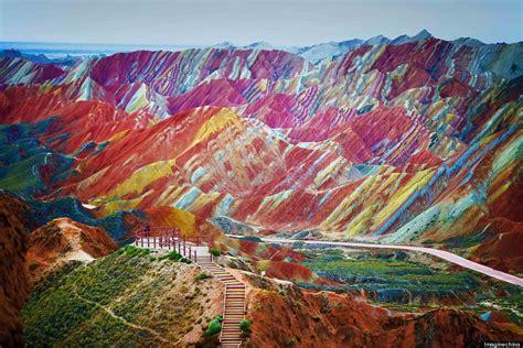 iheartmyart rainbow mountains  danxia landform