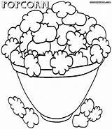 Popcorn Coloring Pages Colorings sketch template
