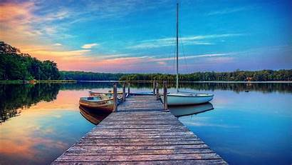 Dock Wallpapers Background Dramatic Lake Desktop Boat