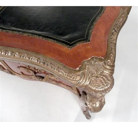 bureau style louis 15 louis xv style gilt bronze mounted mahogany bureau plat