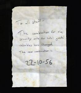The Last Of Us Safe Kombination : note to staff the last of us wiki ~ Buech-reservation.com Haus und Dekorationen