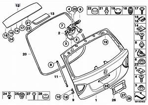 Original Parts For E91 318i N43 Touring    Bodywork   Single Components For Trunk Lid