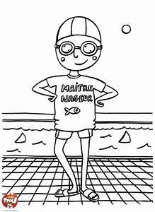 Dessin De Piscine : coloriage ma tre nageur piscine ~ Melissatoandfro.com Idées de Décoration