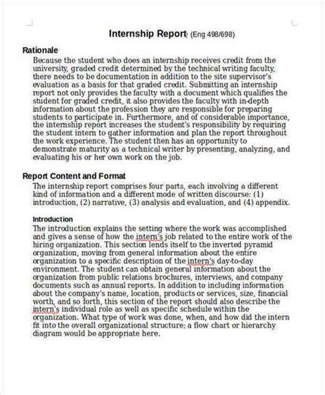 internship student report template   word  format   premium templates