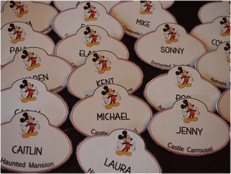 diy disney cast member name tags cards this tale life