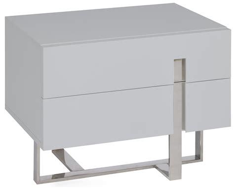 chambre et table d h e table de chevet moderne gris laqué et acier dezina