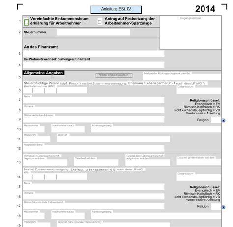 einkommenssteuer  mit allen anlagen  vorlagen