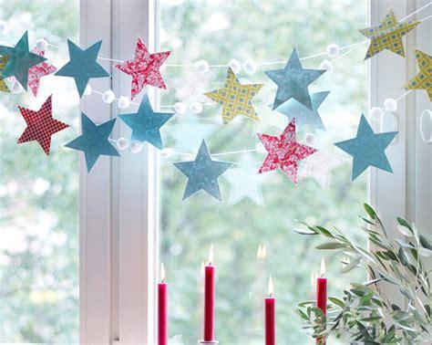 Weihnachtsdeko Für Fenster Basteln Mit Kindern by Girlande Aus Sternen Bild 9 Living At Home