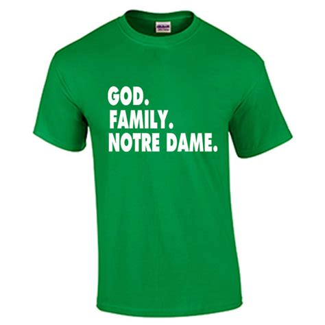 christmas gifts for notre dame fans notre dame fighting irish t shirt god family by