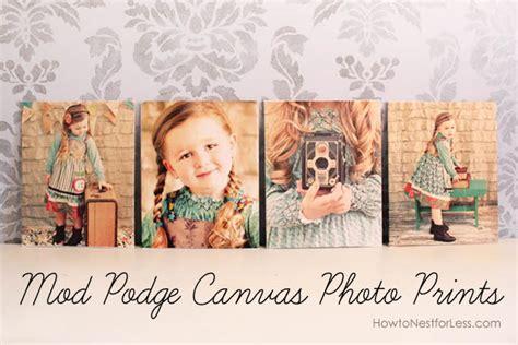 mod podge canvas photo prints   nest
