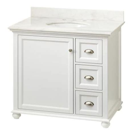 Bathroom Sink Tops Home Depot home decorators collection lamport 37 in vanity in white