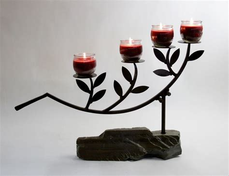 custom olive branch candle holder  soman metal works
