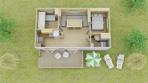 fully equipped  bed  bath vista mobile homes eurocamp