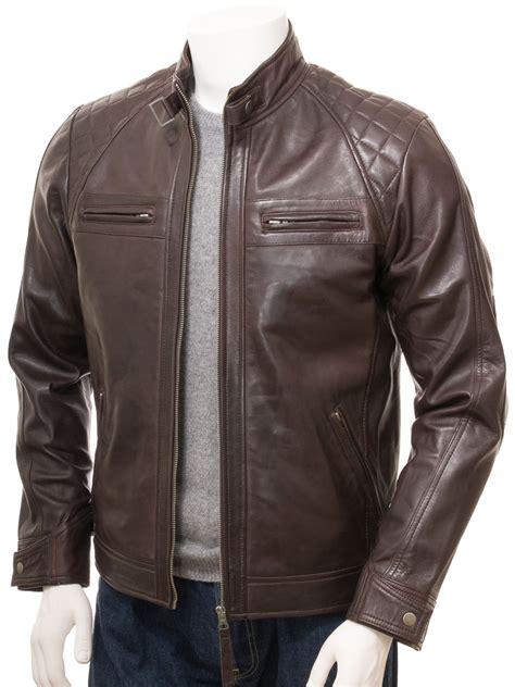 leather apparel men 39 s brown biker leather jacket sibiu men caine