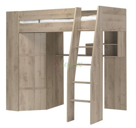 timber loft bunk beds with desk closet gautier gami