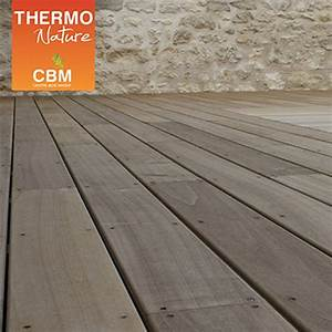lame de terrasse en bois peuplier thermo chauffe With parquet peuplier