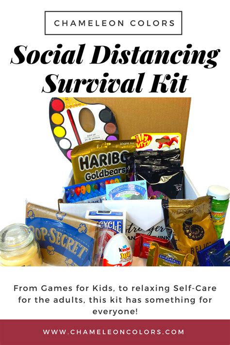 Social Distancing Survival Kit Candy quotes Box of