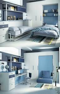 armoire lit escamotable et lits superposes chambre d39enfant With lit escamotable et canapé