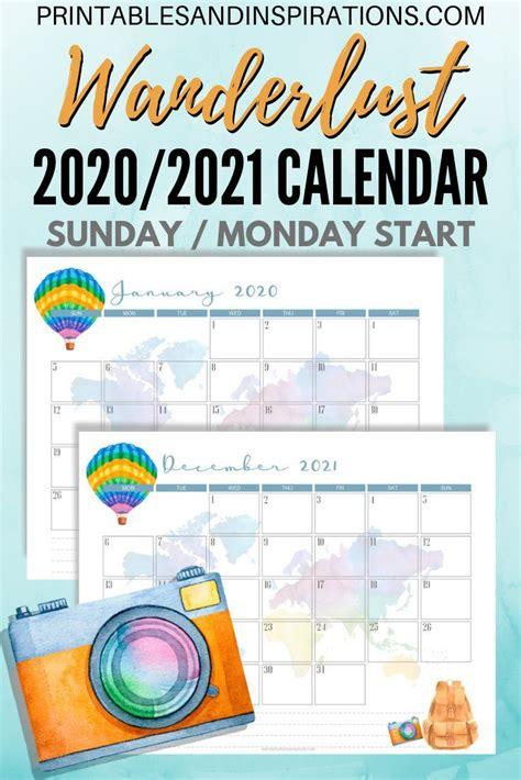 calendar calendar wanderlust travel themed printable