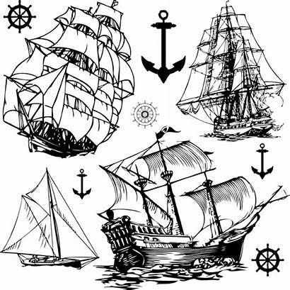 Vector Ship Sailing Theme 4vector Eps
