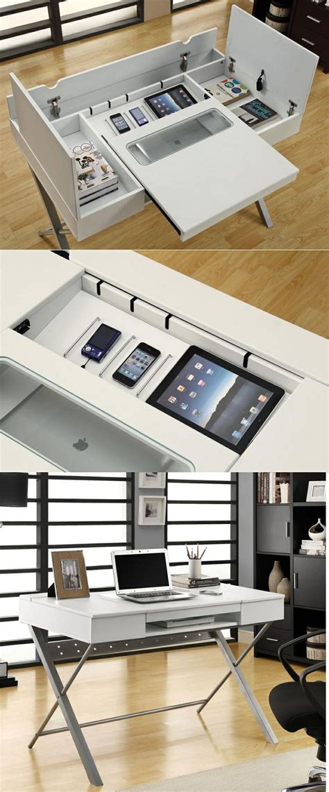 desk l with charging station unique home office desks