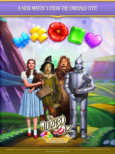 the wizard of oz magic match 3 jewel, Wizard of Oz Magic Match - Zynga - Zynga, THE WIZARD OF OZ MAGIC MATCH 3.