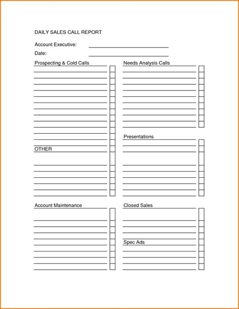 sales call sheet template sales call report sheet forms report template progress report