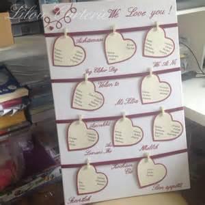 plan de table pour mariage grand plan de table de mariage thème amour faire part par lilou carterie