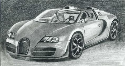 How To Draw Bugatti Veyron Super Car Step By Step