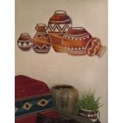Lazart Production Southwestern Pottery Honey Pinion Steel Wall Art