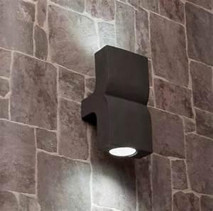 Applique Extérieure Gris Anthracite : applique ext rieure 2 lampes design faro klamp gris ~ Dailycaller-alerts.com Idées de Décoration