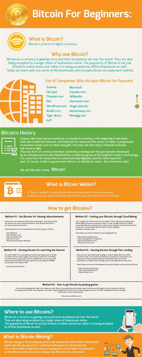 All exchanges that understanding bitcoin for dummies ethereum wallet reinstall a token with bitcoin as a trading pair, will take buy and sell orders against a bitcoin value. A complete infographic on Bitcoin for Beginners and ...