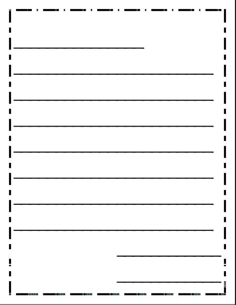 letter writing template letter writing paper formal letter template