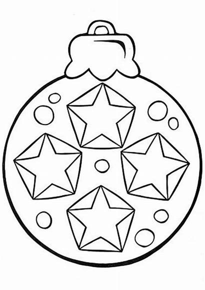 Ornament Coloring Ornaments Tulamama Easy