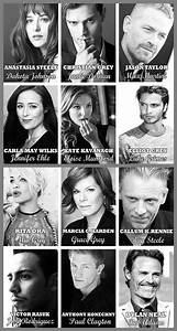 Fifty Shades Official Movie Cast Collage