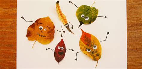 Mit Herbstblättern Basteln