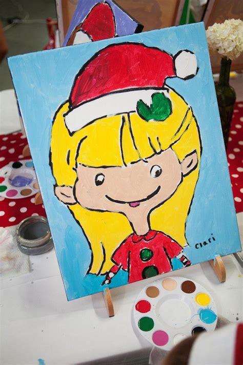 karas party ideas christmas elf painting party  karas