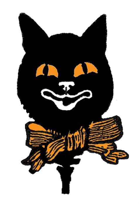 Vintage Halloween Cat Clip Art