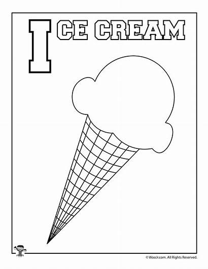 Ice Cream Coloring Alphabet Pages Letter Printables