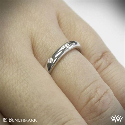 comfort fit scattered diamond wedding band whiteflash