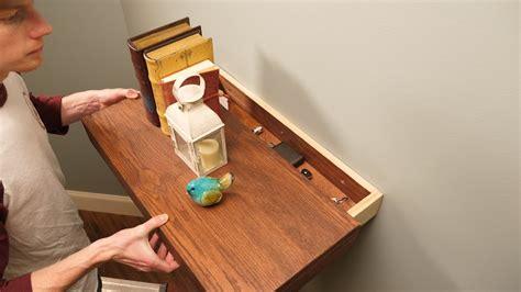 saturday morning workshop floating shelf   secret