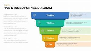 Five Staged Funnel Diagram Powerpoint Template And Keynote