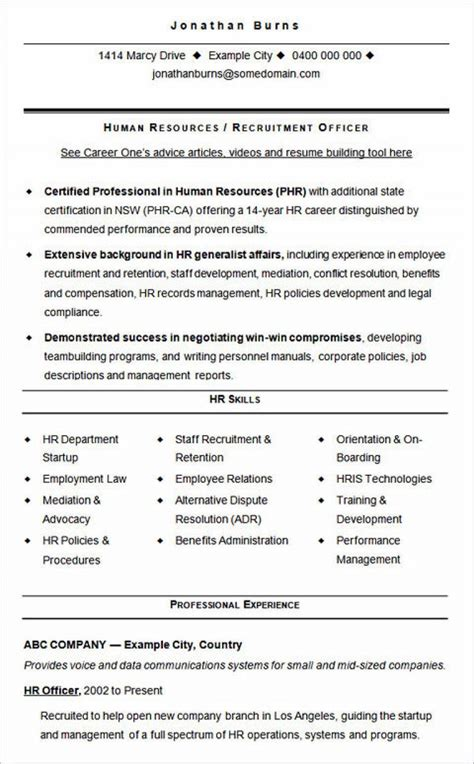 Hr Resume by Ultimate Guide To Writing Your Human Resources Resume Cv