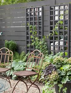 A Brooklyn Garden Makeover  U0026 Mirrored Trellis