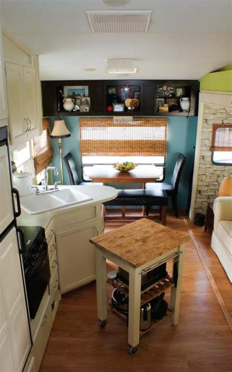 lightweight cabinets for trailers couple renovate 5th wheel travel trailer into tiny home