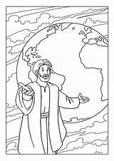 Coloring Pages Commission Bible Jesus Sunday Printable Disciples Children Crafts Preschool Toddler Sheets Craft Creating Activities Church Printables Christian Lazarus sketch template